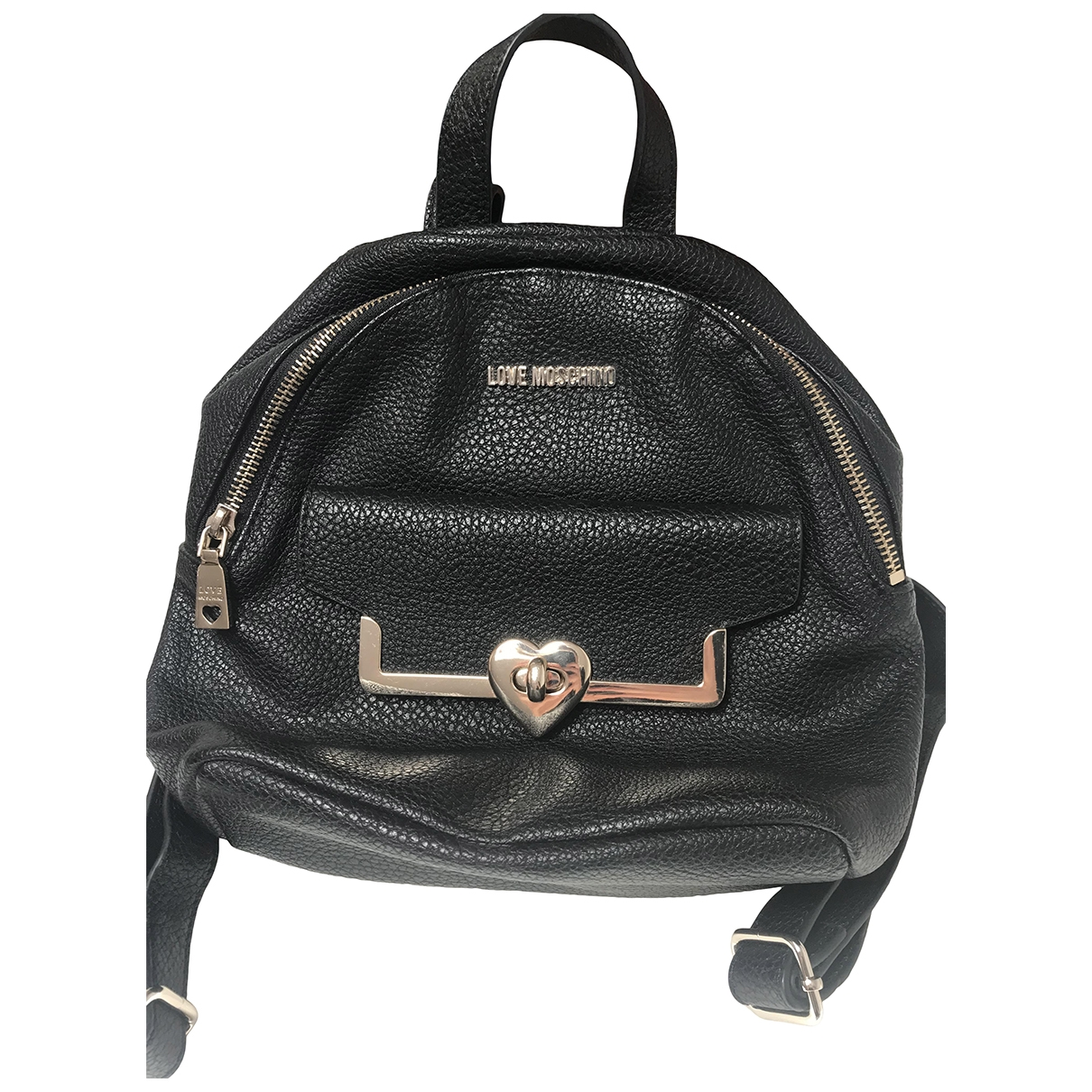 Moschino Love \N Black Leather backpack for Women \N
