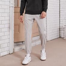 Guys Slant Pocket Front Striped Pants