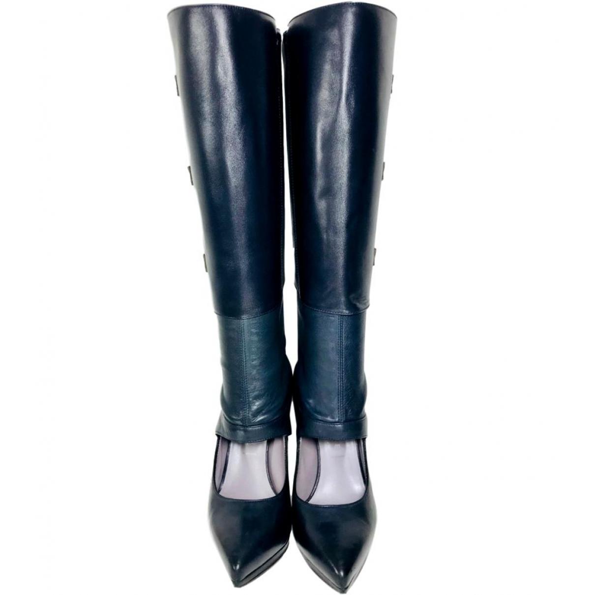 Versace \N Stiefel in  Marine Leder