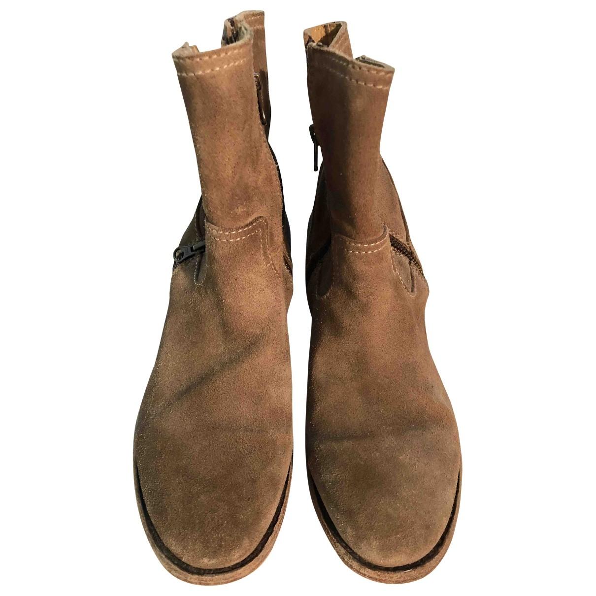 Ash \N Beige Suede Boots for Women 41 EU