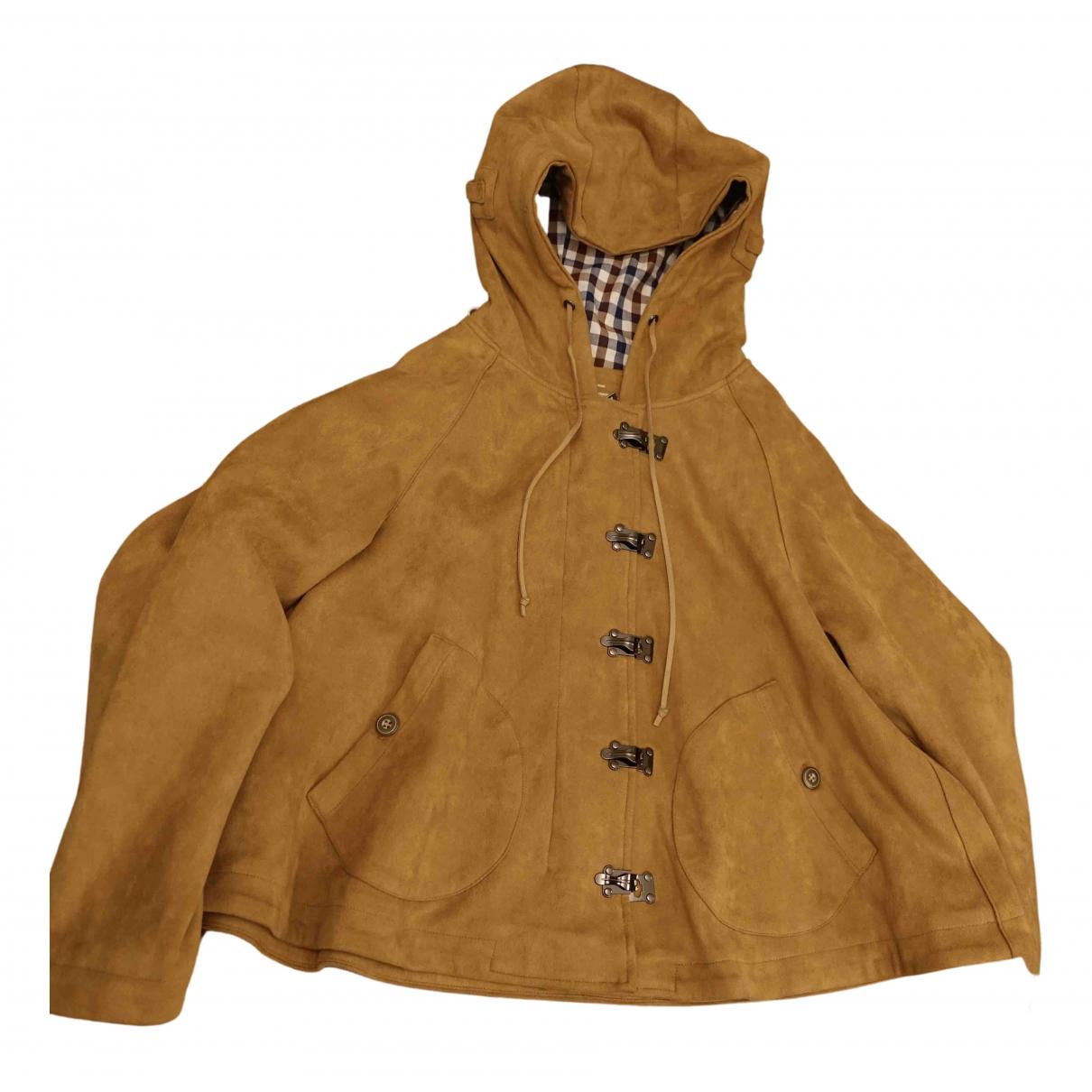 - Manteau   pour femme en suede - camel