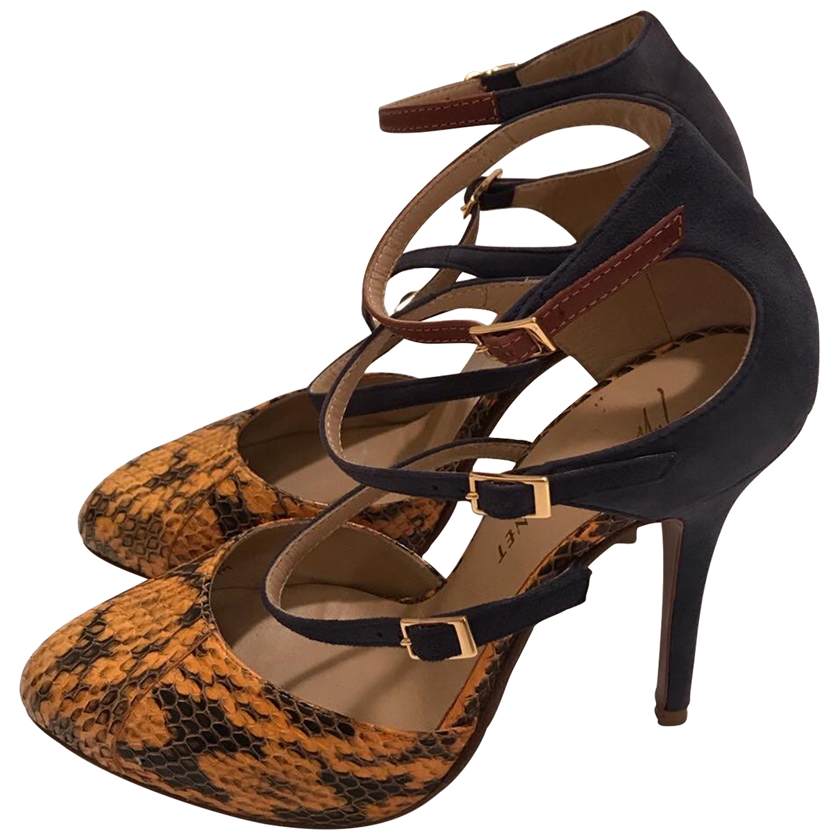 Giuseppe Zanotti \N Yellow Python Heels for Women 36 IT