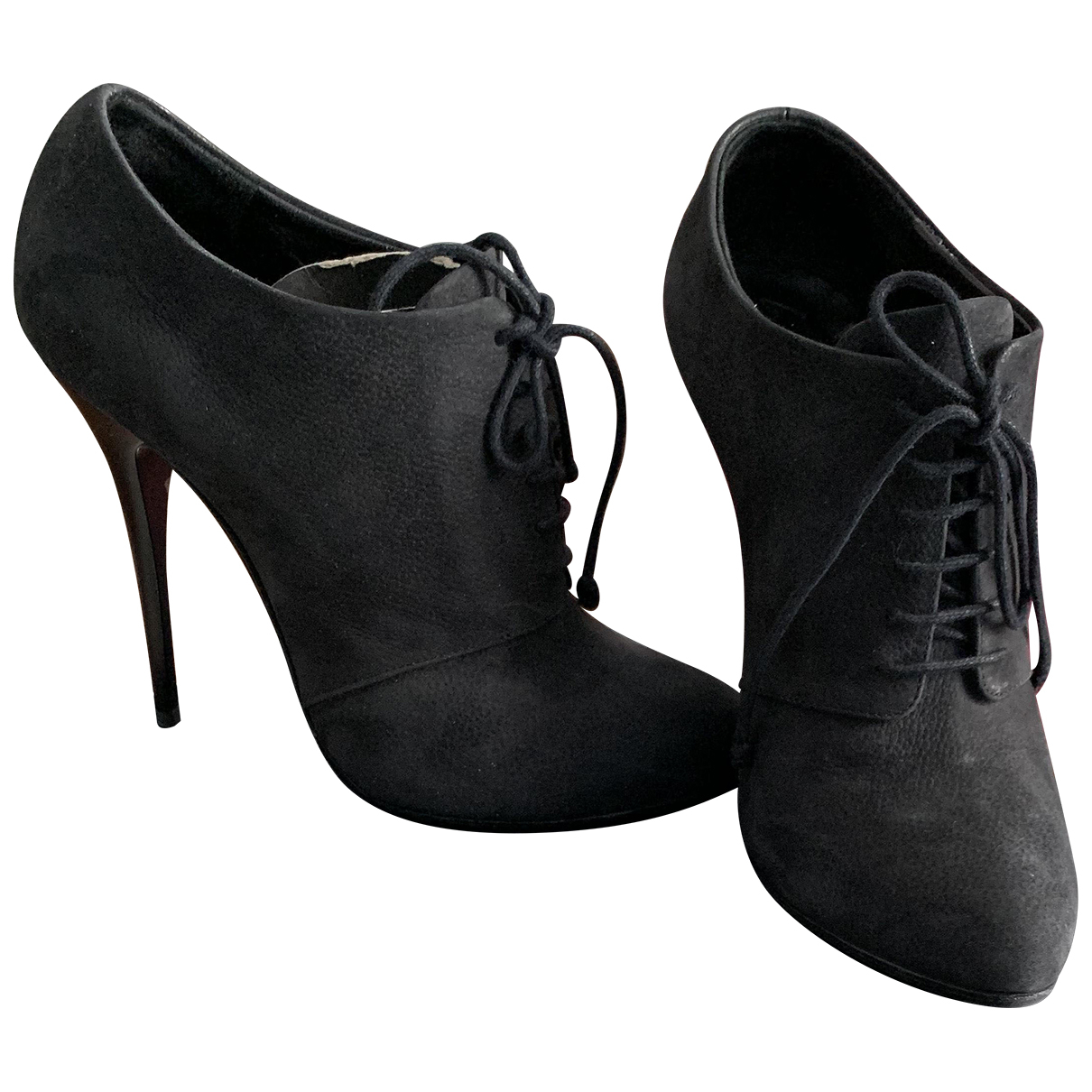 Giuseppe Zanotti \N Anthracite Suede Ankle boots for Women 38 EU