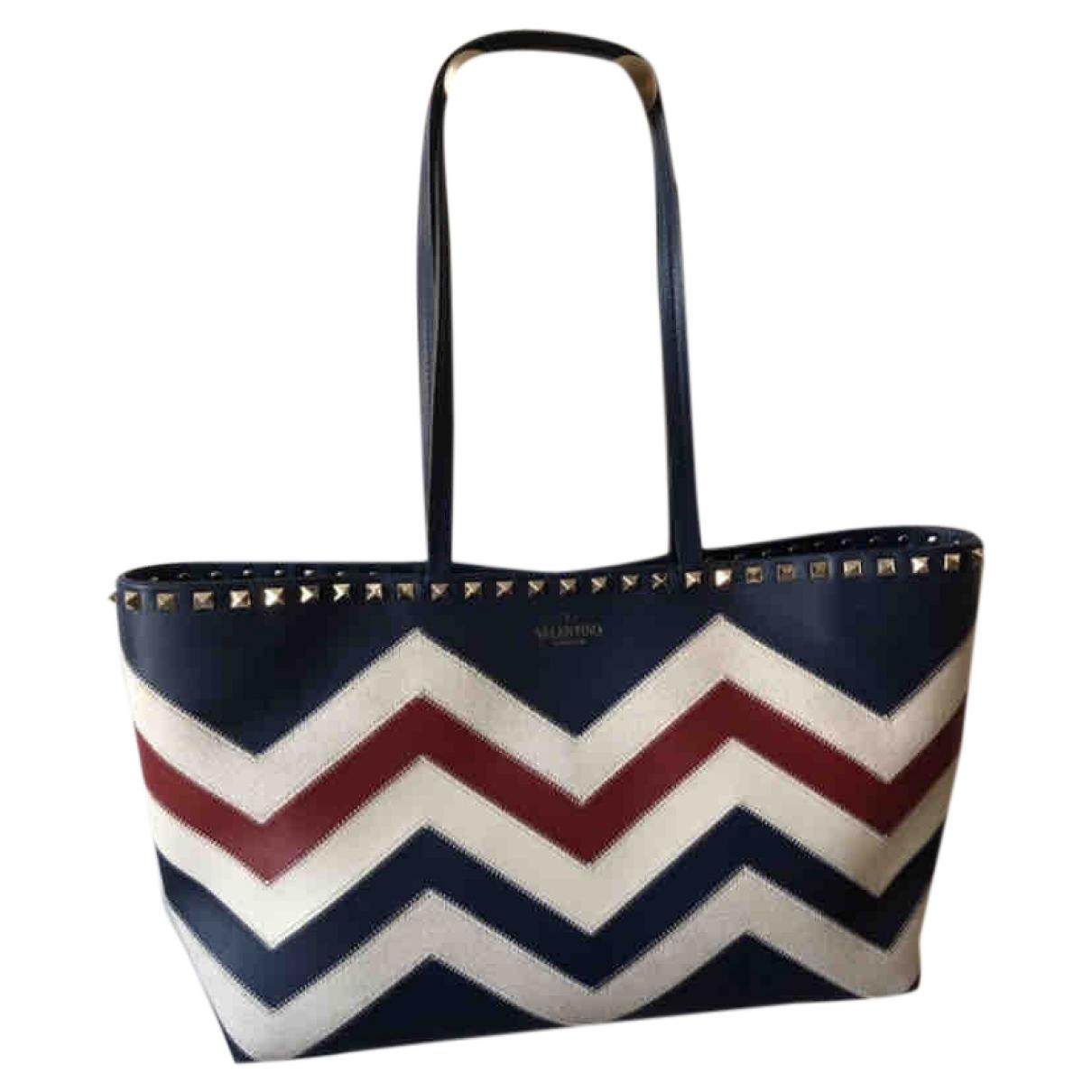Valentino Garavani Rockstud Blue Leather handbag for Women \N