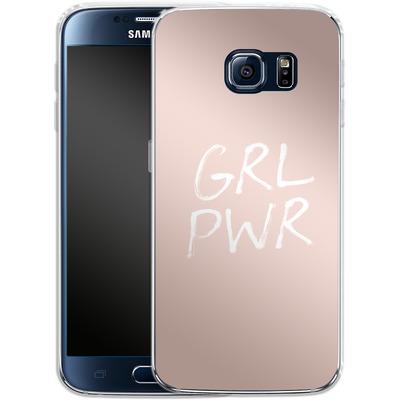 Samsung Galaxy S6 Silikon Handyhuelle - GRLPWR Rose von caseable Designs