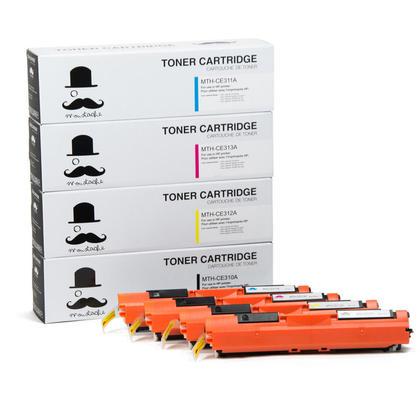 Compatible HP 126A cartouches de toner BK/C/M/Y combo - Moustache