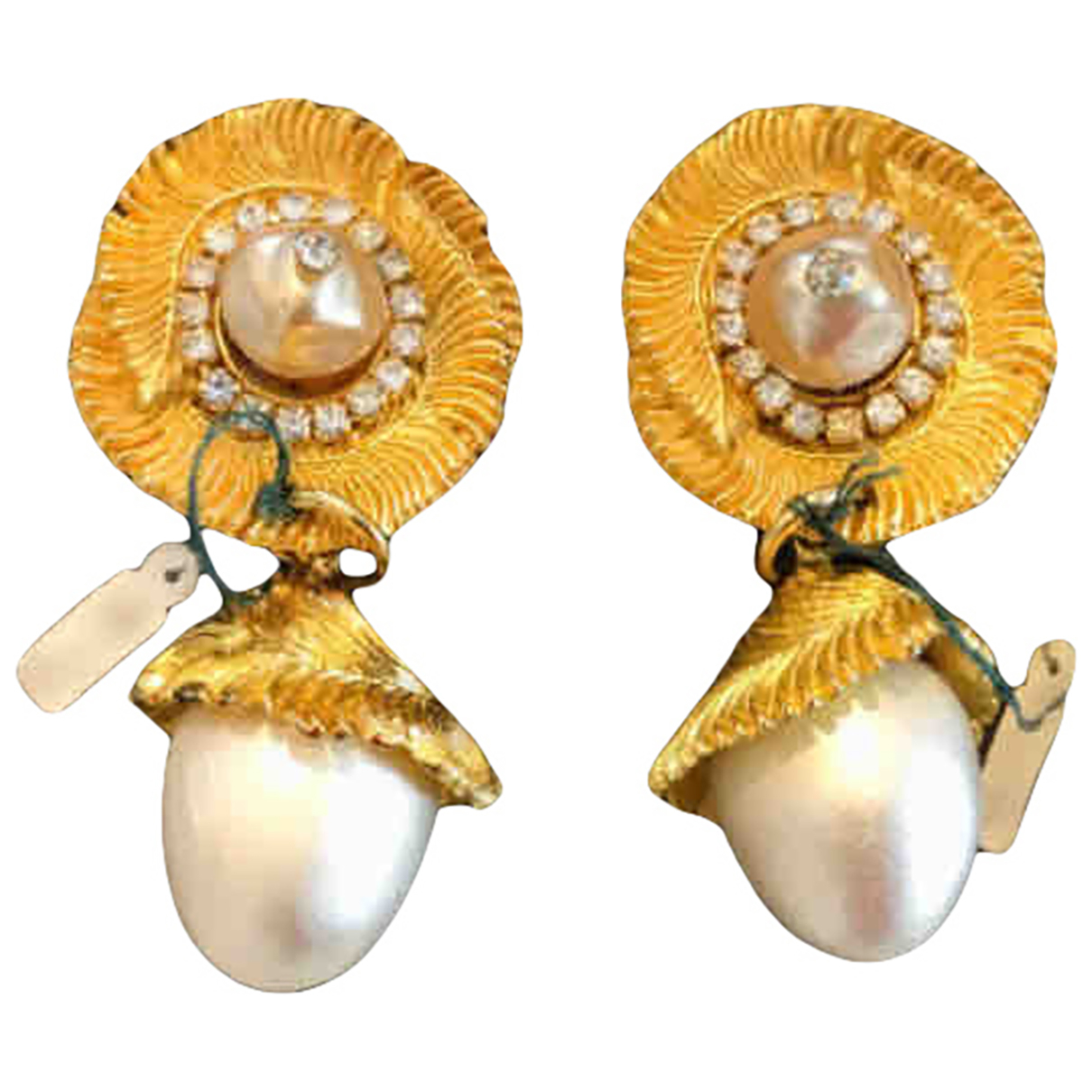 Claire Deve N Gold Metal Earrings for Women N