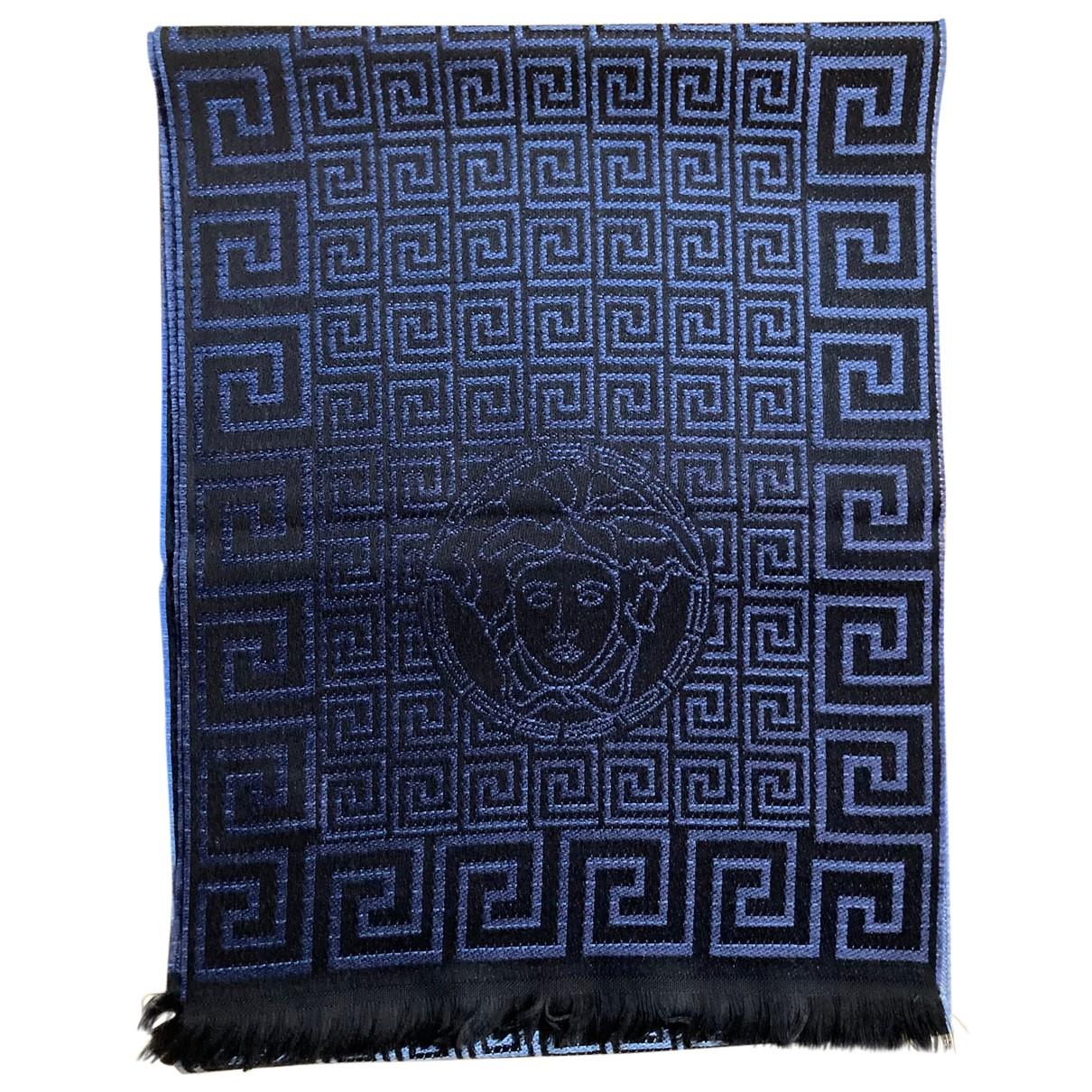 Versace - Cheches.Echarpes   pour homme en laine - noir