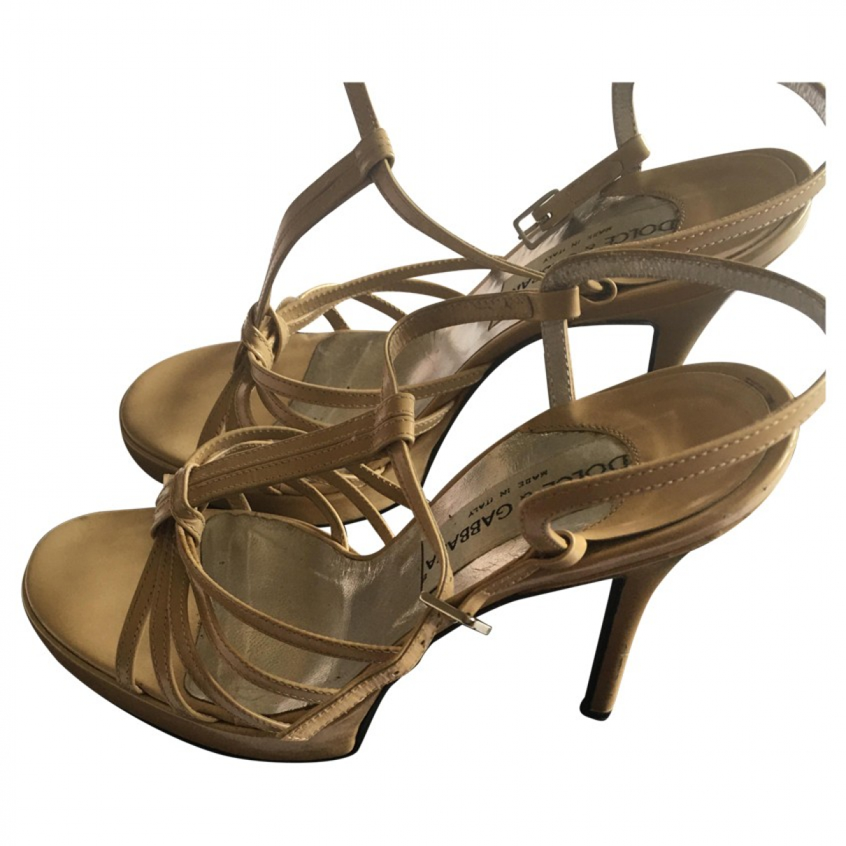 Dolce & Gabbana \N Camel Leather Sandals for Women 38 EU