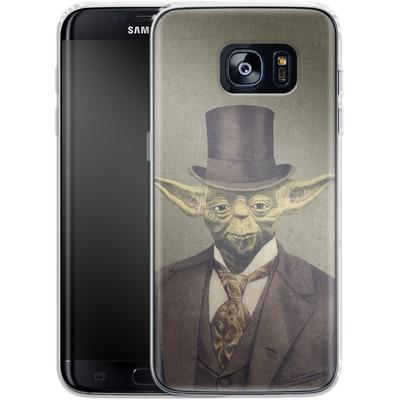 Samsung Galaxy S7 Edge Silikon Handyhuelle - Sir Yodington von Terry Fan