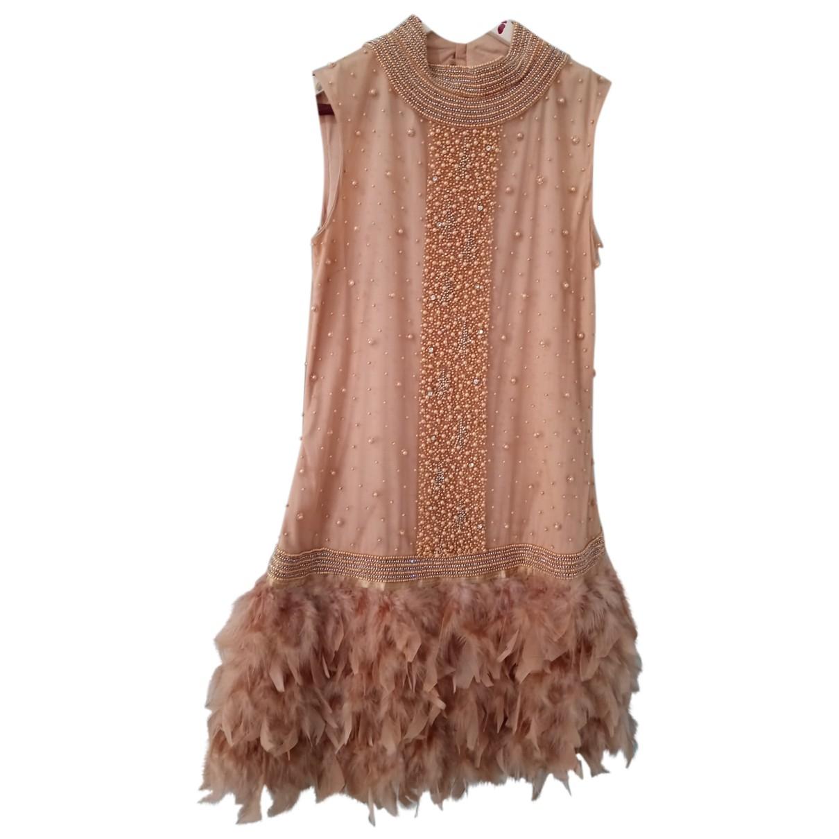 Matilde Cano \N Kleid in  Rosa Mit Pailletten
