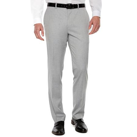 JF J.Ferrar 360 Mens Super Slim Fit Suit Pants - Super Slim, 34 30, Gray