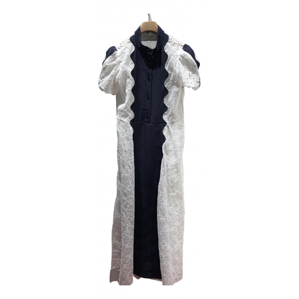 Valentino Garavani \N Kleid in  Weiss Baumwolle