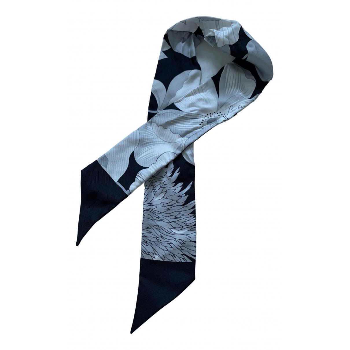 Burberry - Foulard   pour femme en soie - noir