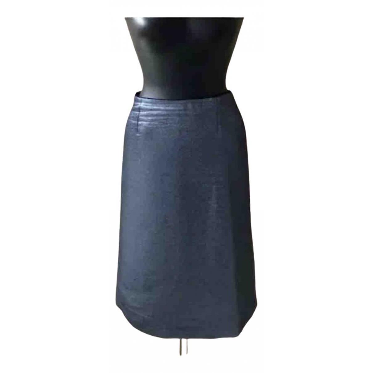 Louis Vuitton - Jupe   pour femme en laine - bleu