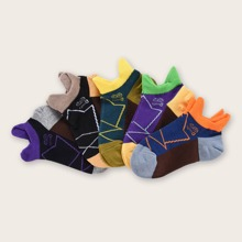 5 pares calcetines de niñitos de color combinado