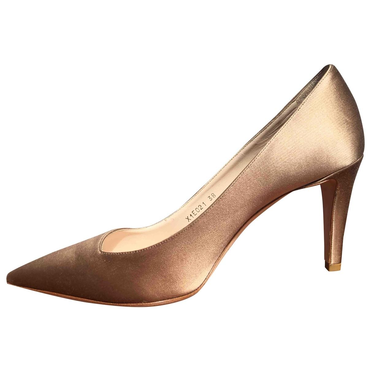 Giorgio Armani \N Metallic Cloth Heels for Women 38 EU