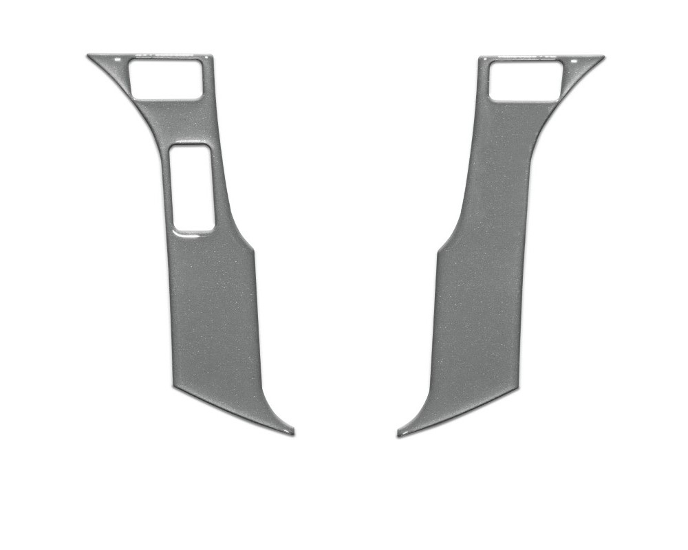 Tufskinz TAC038-RUN-CLG-G Steering Wheel Trim With 3 Buttons Fits 2014-2020 Toyota 4Runner 2 Piece Kit In Charcoal Silver