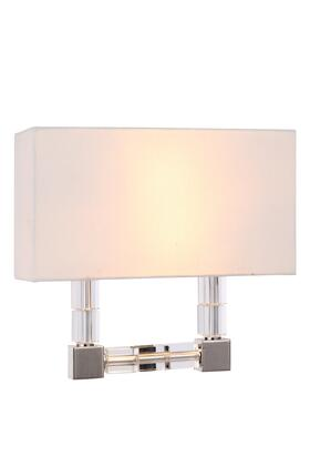 1461W13PN 1461 Cristal Collection Wall Sconce W: 13in H: 12in Ext: 4.5in Lt: 2 Polished Nickel