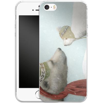 Apple iPhone SE Silikon Handyhuelle - First Winter von Eric Fan