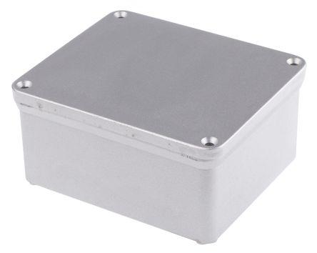 RS PRO Natural Die Cast Aluminium Enclosure, IP65, 81 x 135 x 160mm