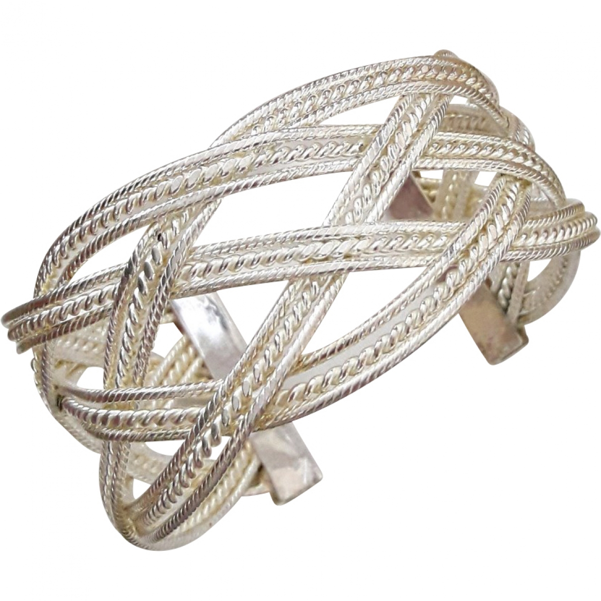 Non Signe / Unsigned Manchette Armband in  Silber Silber