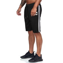 Men Side Stripe Drawstring Waist Athletic Shorts