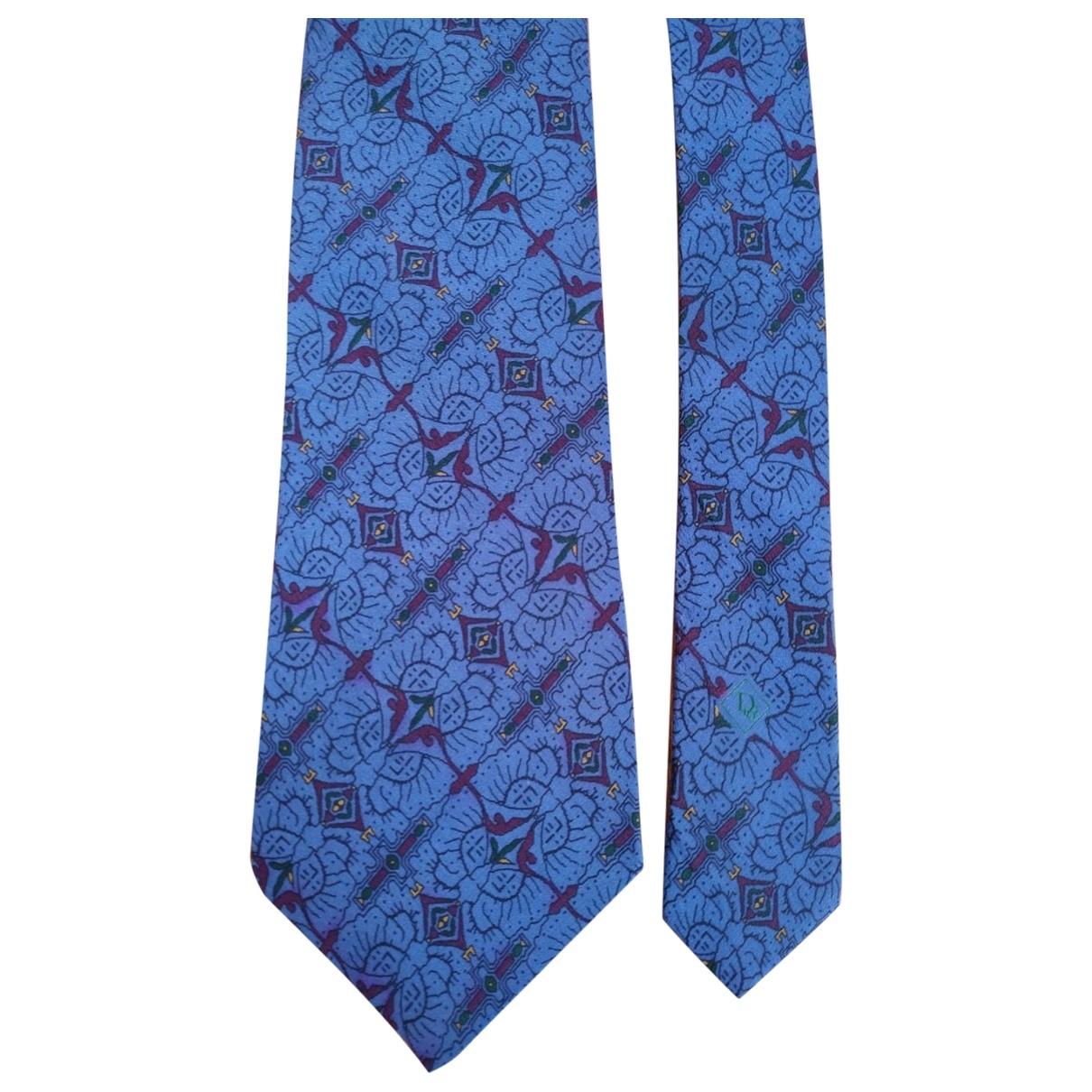 Christian Dior - Cravates   pour homme en soie - bleu