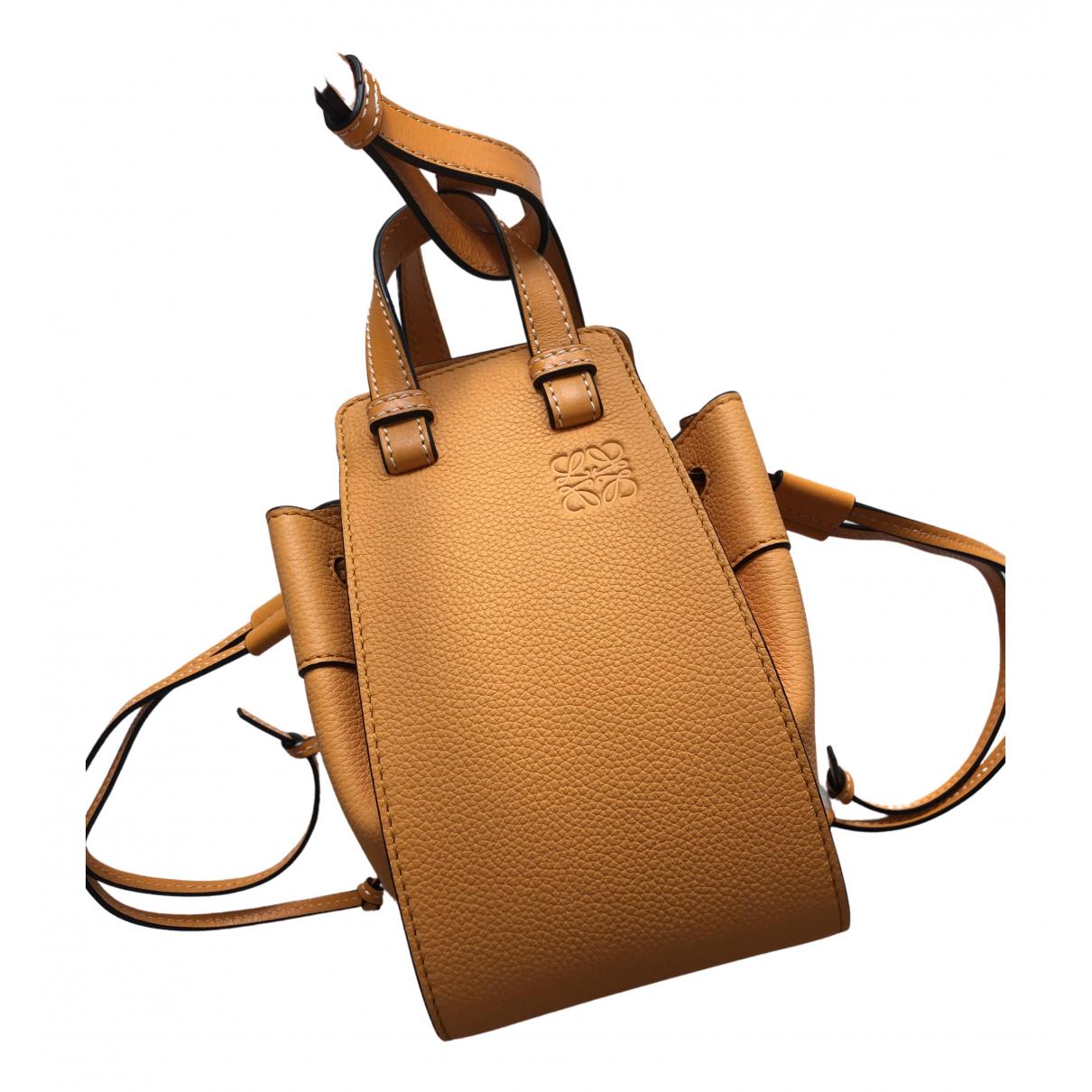 Loewe Hammock Handtasche in  Gelb Leder