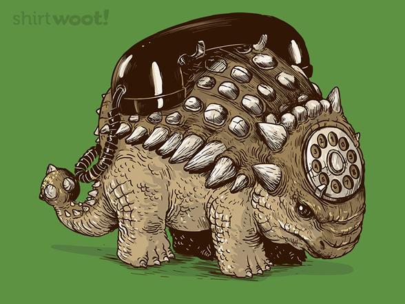 Ankylosaurus Telephone T Shirt