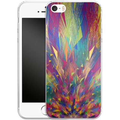 Apple iPhone 5s Silikon Handyhuelle - Triangles Explosion von Danny Ivan