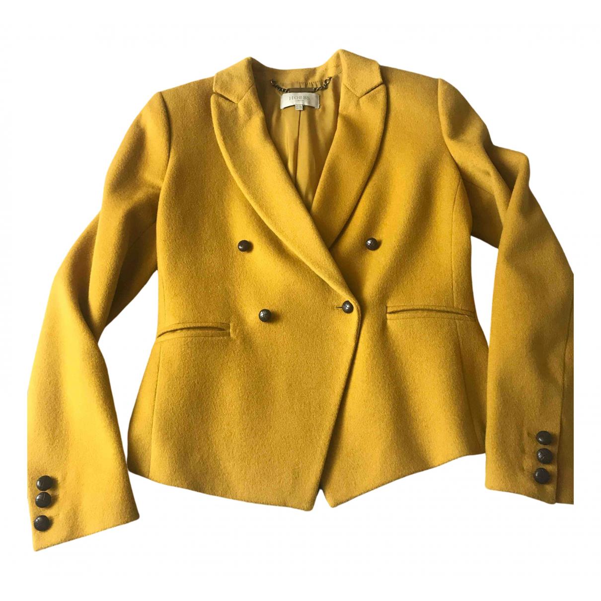 Hobbs - Veste   pour femme en laine - jaune