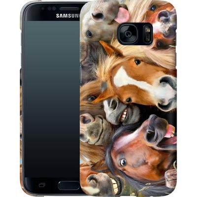 Samsung Galaxy S7 Smartphone Huelle - Horse Selfie von Howard Robinson