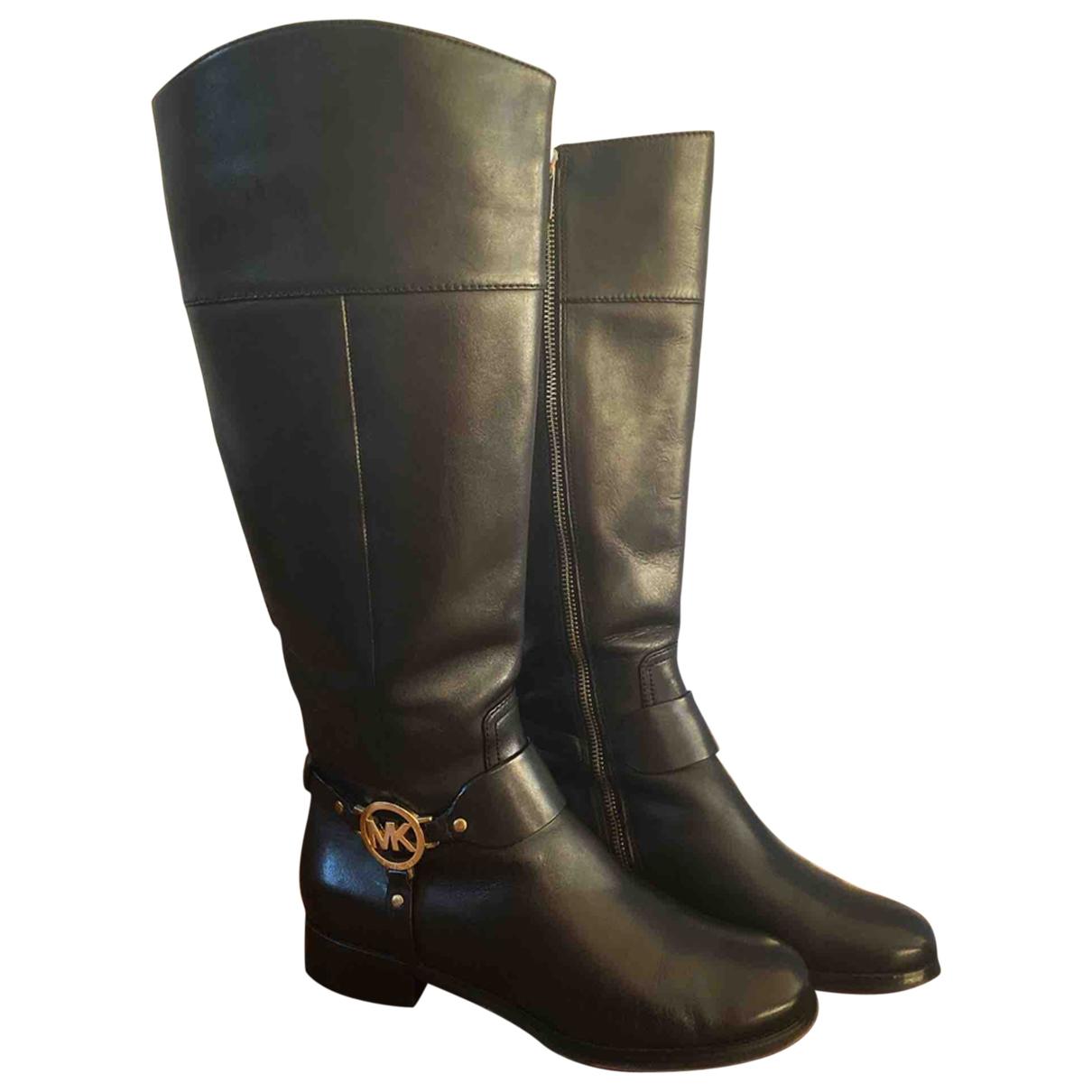 Michael Kors \N Black Leather Boots for Women 37 EU