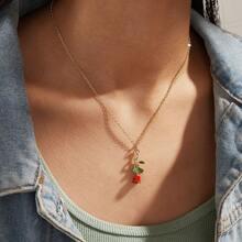 1pc Flower Pendant Necklace