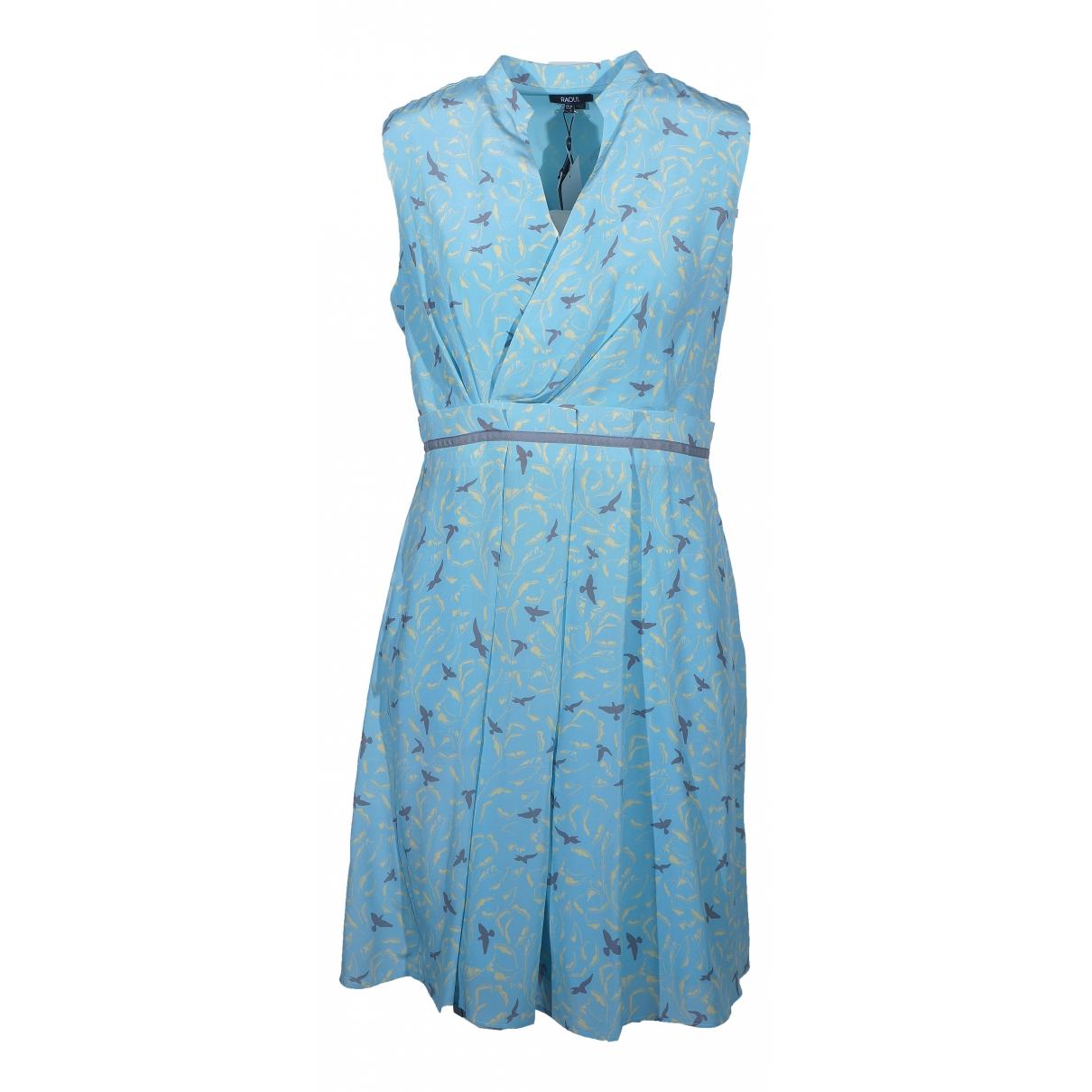Raoul - Robe   pour femme en soie - bleu