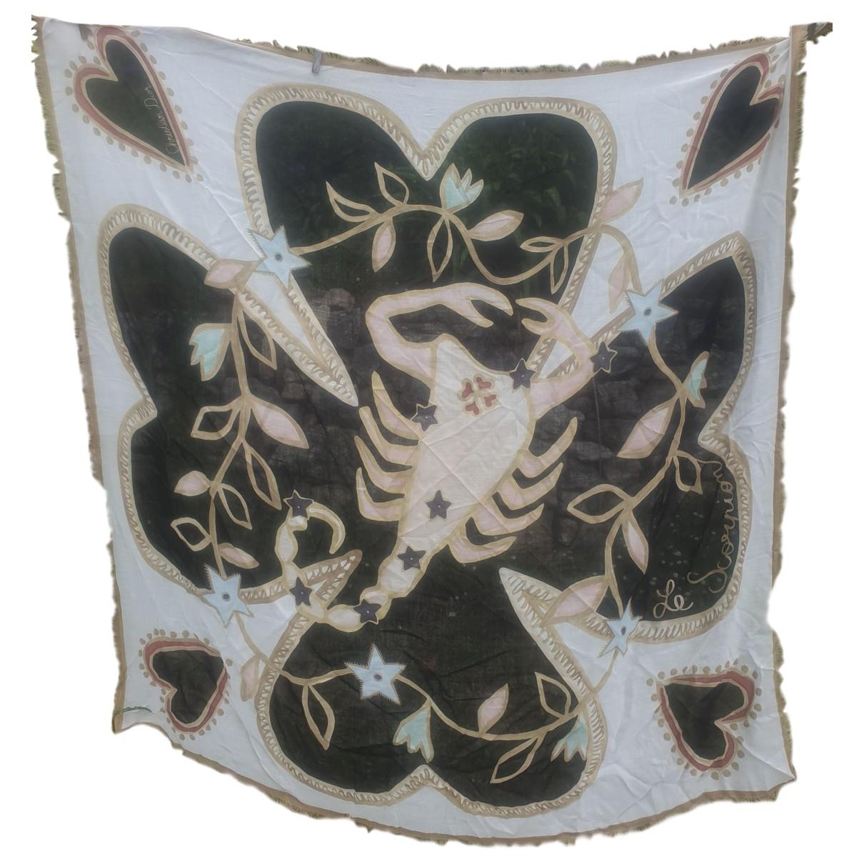 Dior - Foulard   pour femme en laine - marron