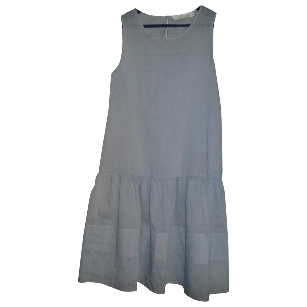 Max & Co \N Blue Cotton dress for Women 38 IT