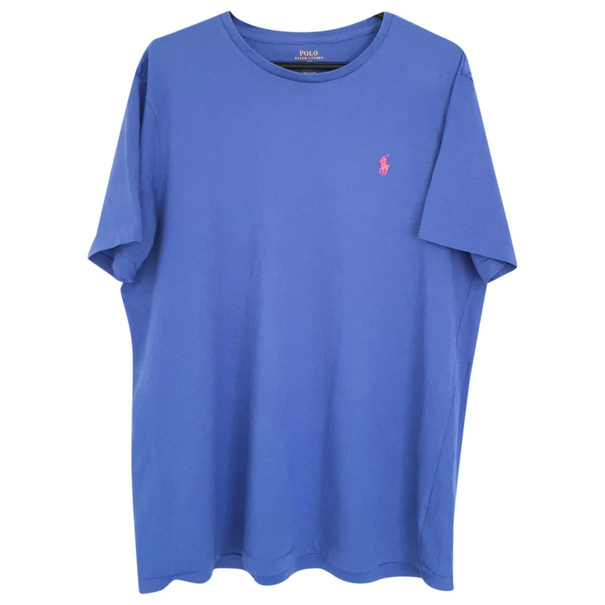Polo Ralph Lauren \N Blue Cotton T-shirts for Men XL International