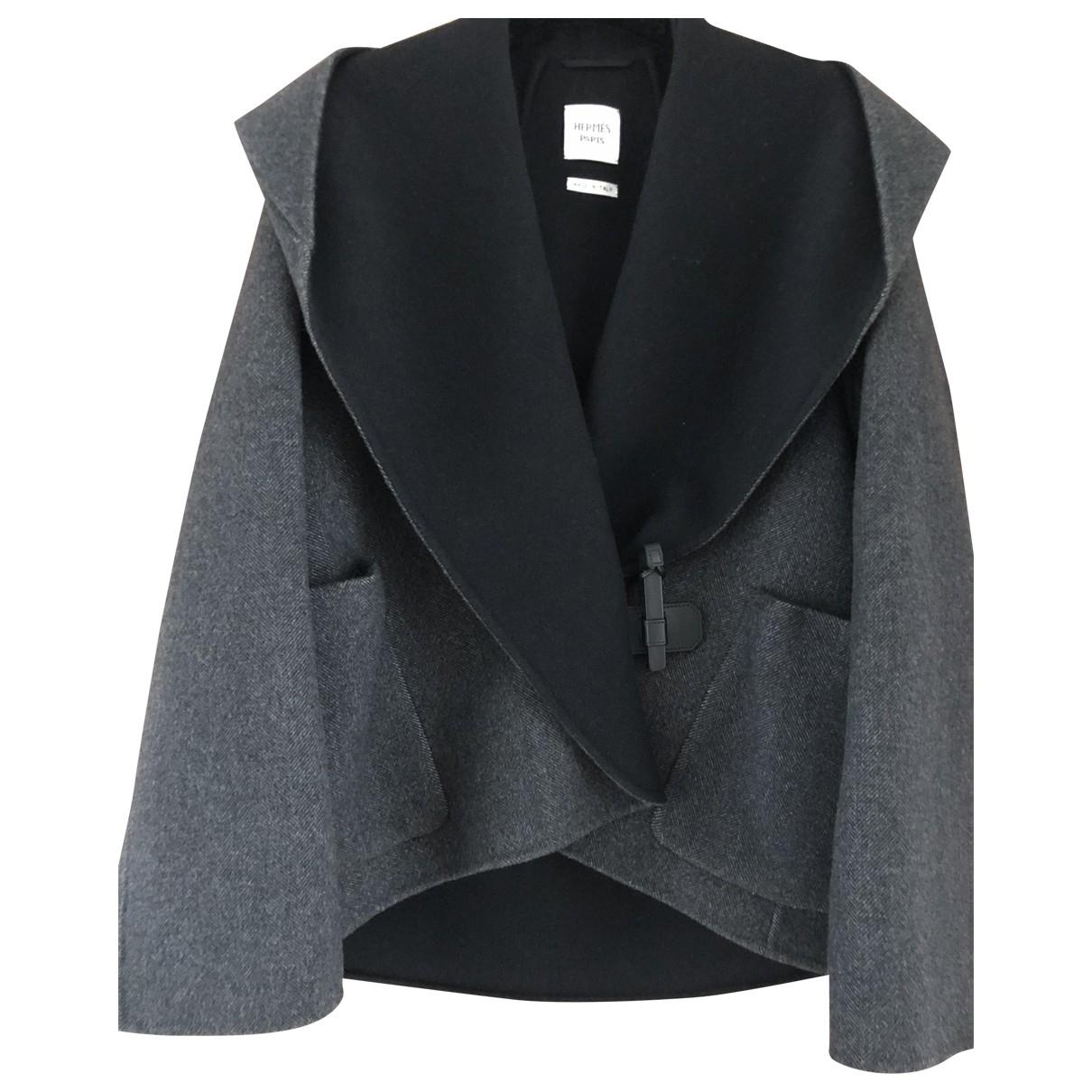 Hermes - Manteau   pour femme en cachemire - gris