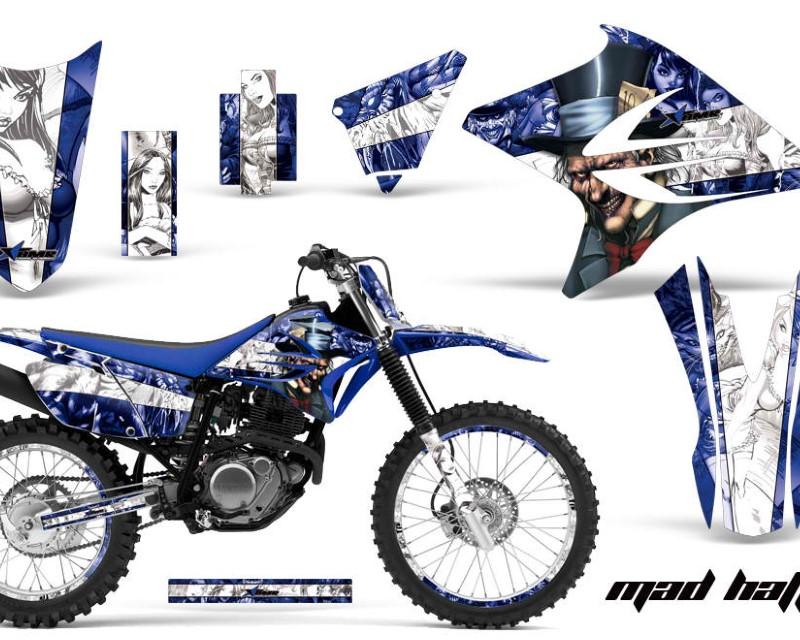 AMR Racing Graphics MX-NP-YAM-TTR230-05-18-MO U Kit Decal Sticker Wrap + # Plates For Yamaha TTR230 2005-2018 MOTORHEAD BLUE