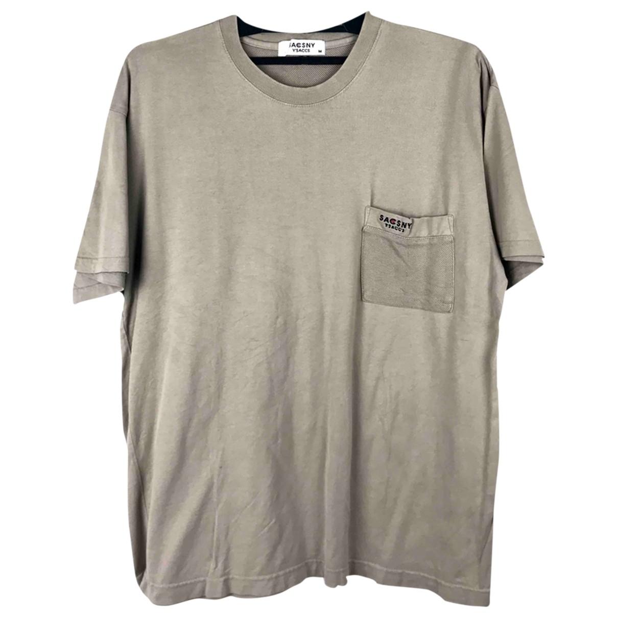 Ys - Tee shirts   pour homme en coton - beige