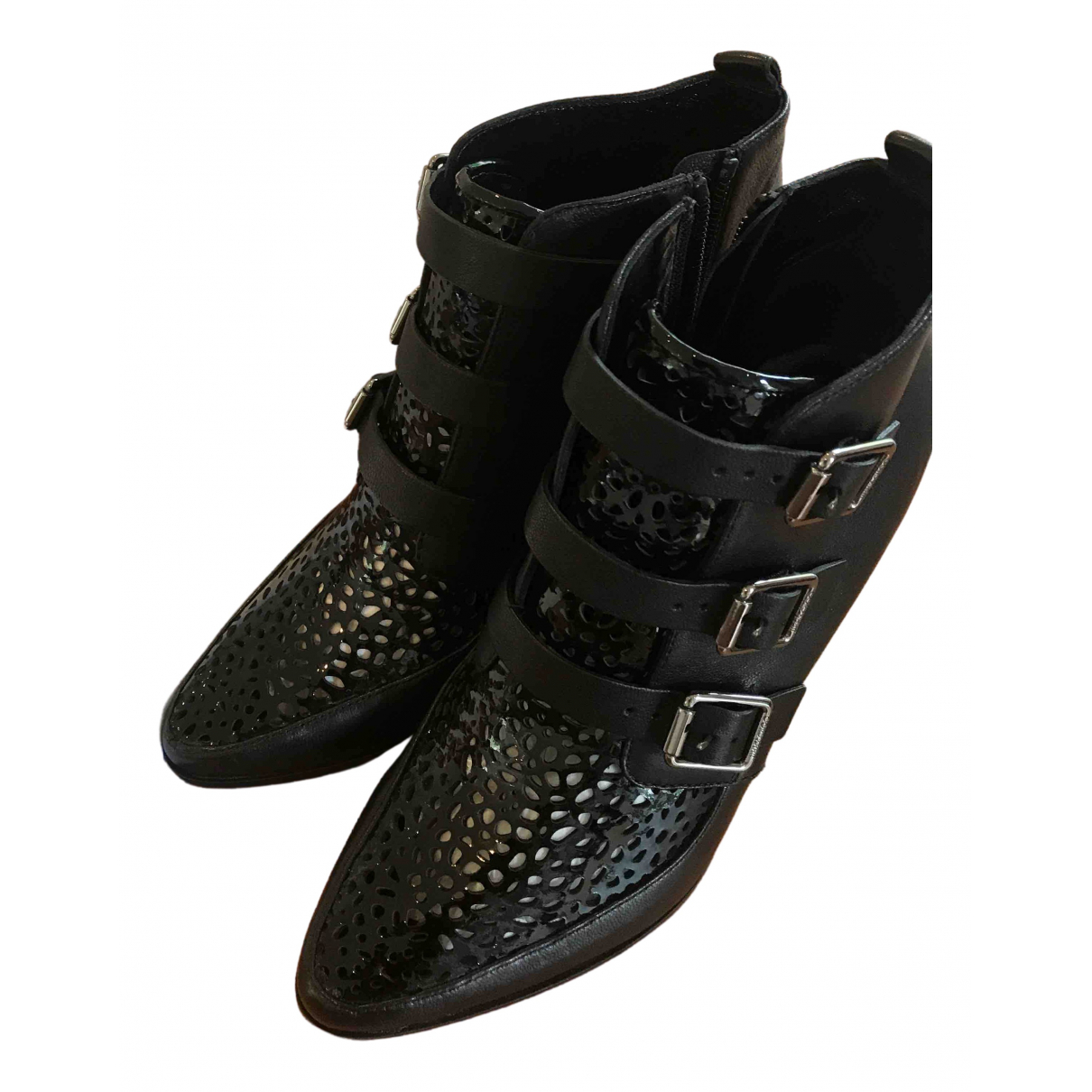 Jimmy Choo N Black Leather Ankle boots for Women 37.5 EU