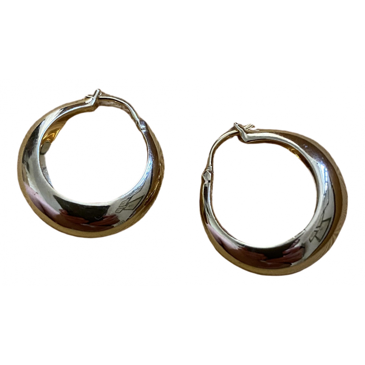 Non Signé / Unsigned Créoles Gold Metal Earrings for Women \N