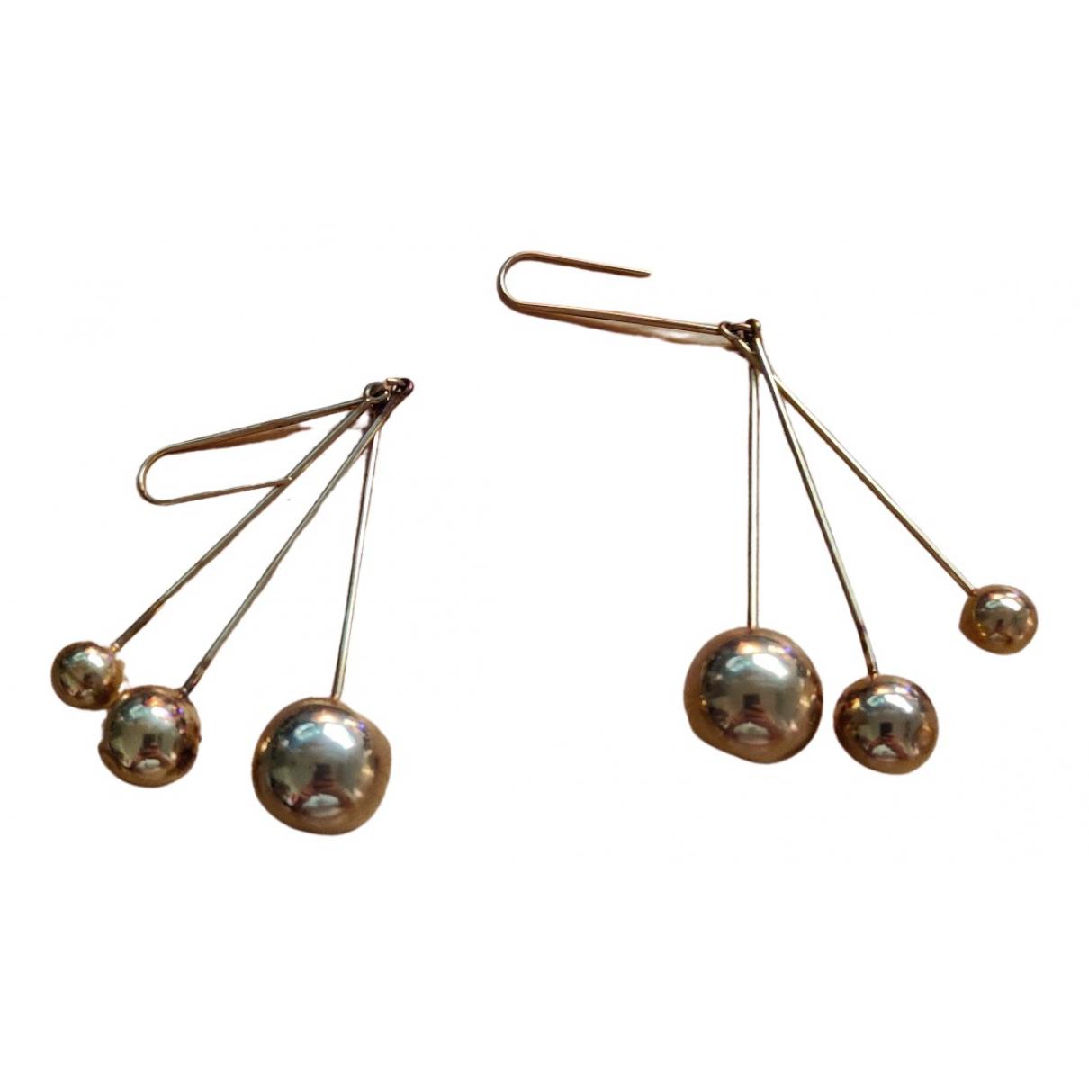 Celine - Boucles doreilles   pour femme en metal - dore