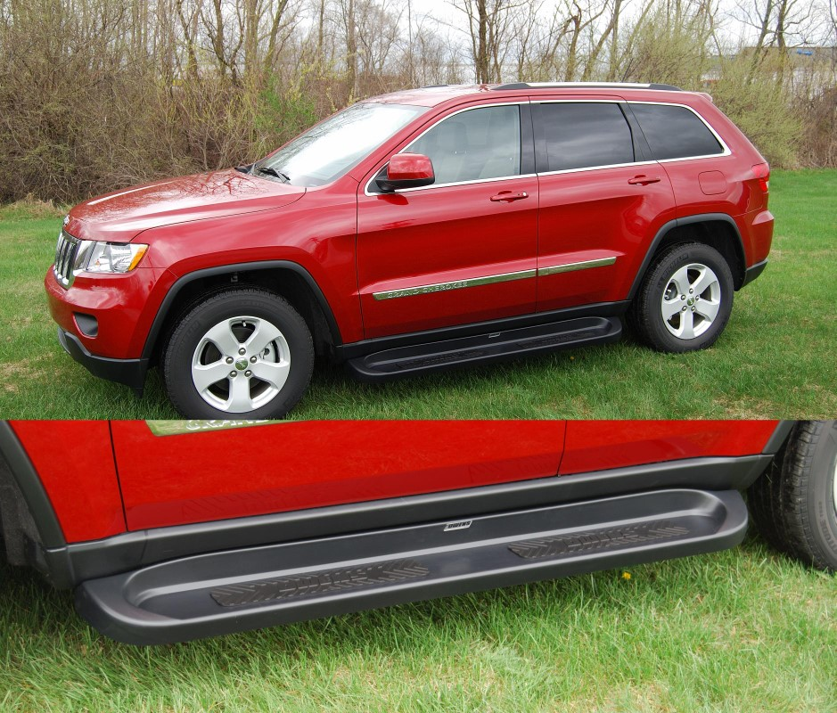 Owens Products 67681-01 Running Boards Owens Premier Grip 2 Series TPO 11-18 Jeep Grand Cherokee Limited And Laredo TPO