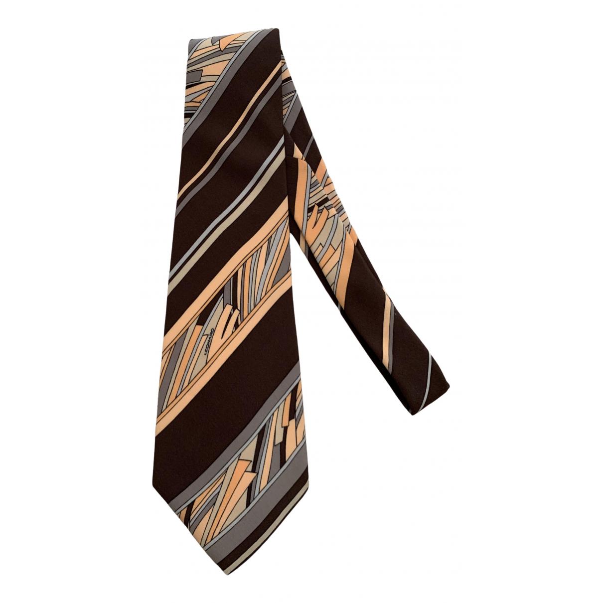 Leonard - Cravates   pour homme en soie - marron