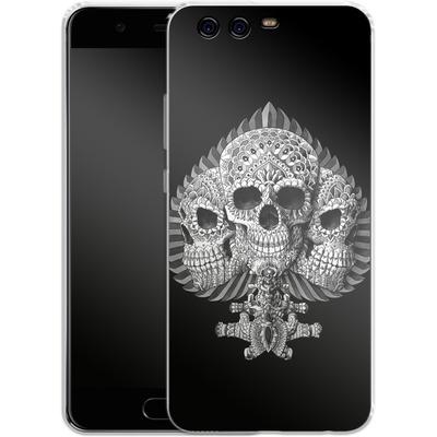 Huawei P10 Silikon Handyhuelle - Skull Spade von BIOWORKZ