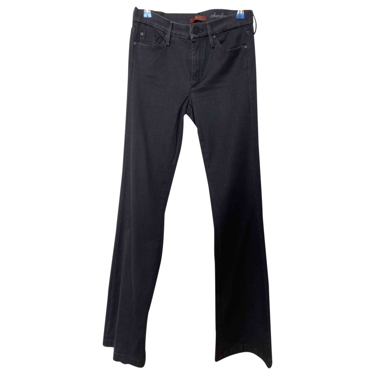 7 For All Mankind \N Black Cotton Jeans for Women 27 US