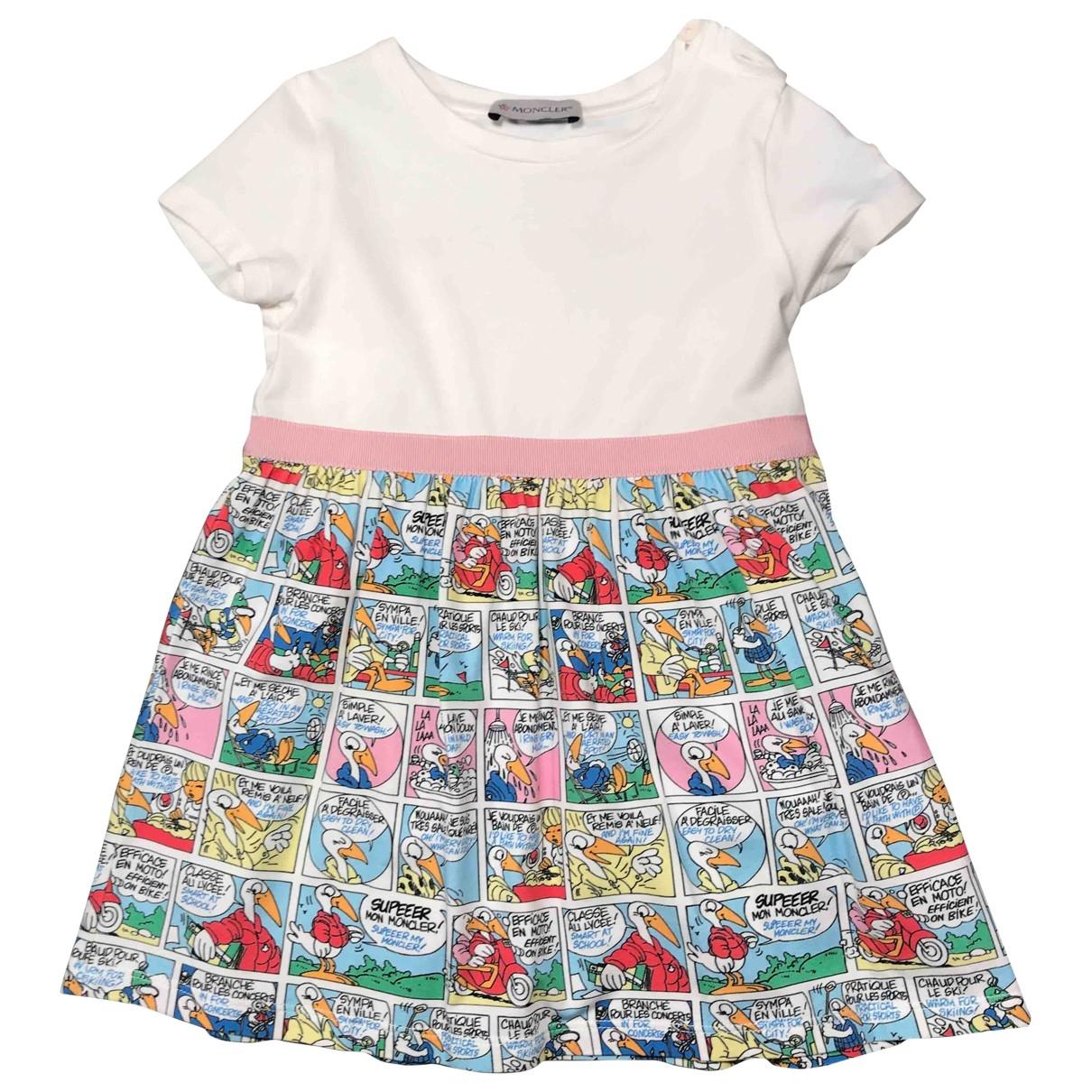 Moncler - Robe    pour enfant en coton - elasthane - blanc